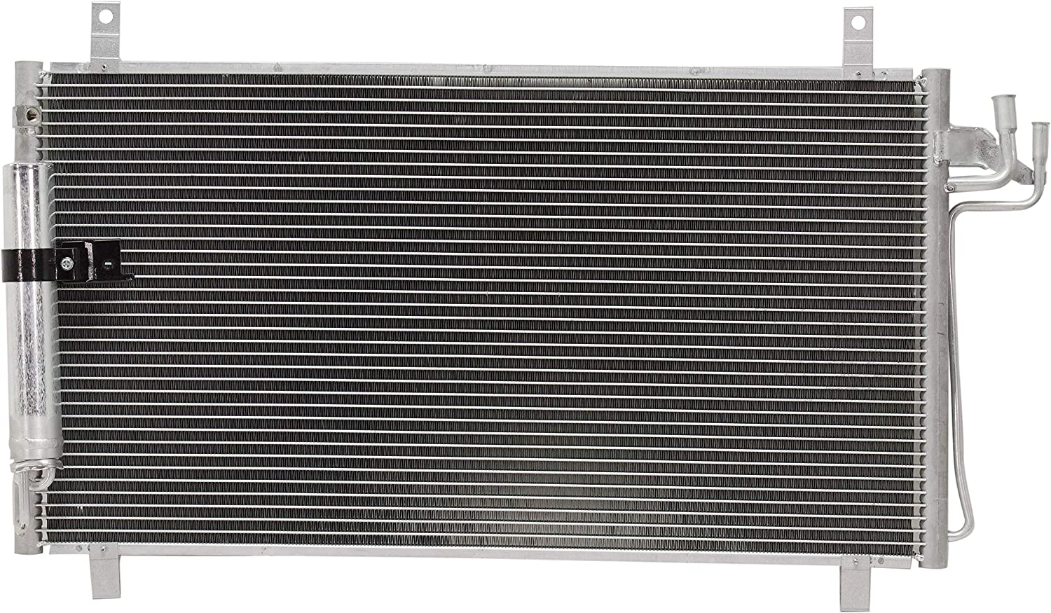 A//C Condenser Compatible with 2003-2007 Infiniti G35 Aluminum Core With Receiver Drier