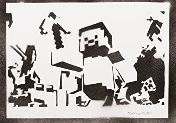 Minecraft Handmade Street Art - Artwork - Poster