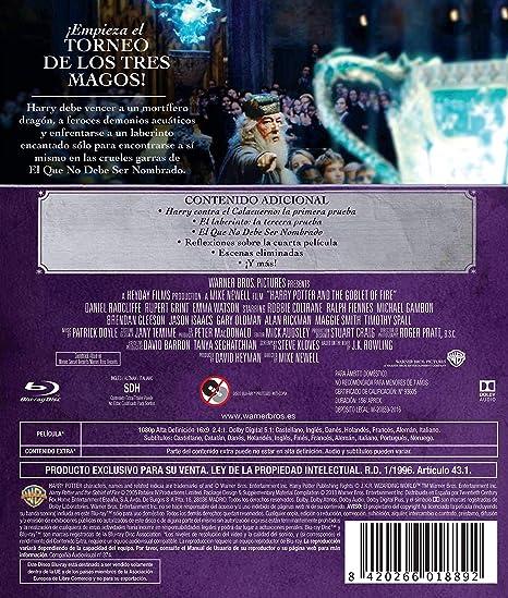 Harry Potter Y El Cáliz De Fuego. Ed. 2018 Blu-Ray Blu-ray: Amazon ...
