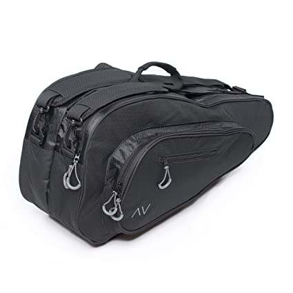 45a973389d3b Amazon.com  Gigavibe Premium 6R Tennis Bag in Black (Black Gray ...