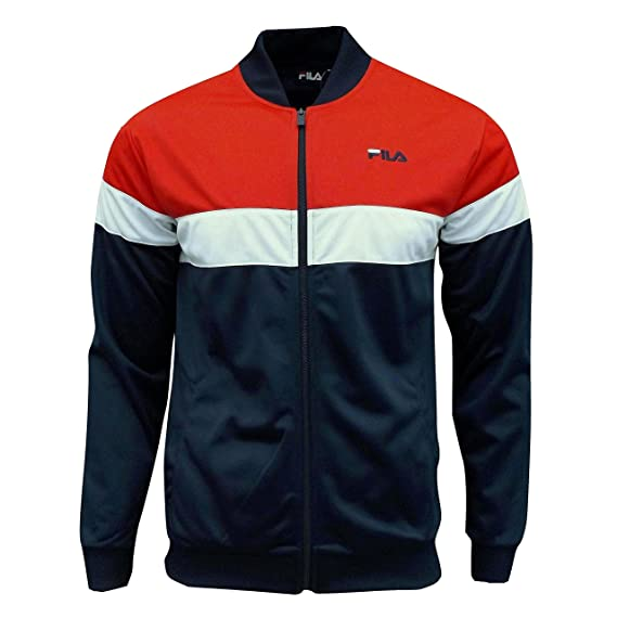 Fila Lecce Herren-Trainingsjacke im Retro-Stil, Farbe Chinese Red (Rot),  Lecce, rot, FW15GTM001  Amazon.de  Bekleidung 6e081b2415