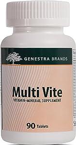 Genestra Brands - Multi Vite - Complete Multi Vitamin Mineral Formulation with Botanical Support - 90 Tablets
