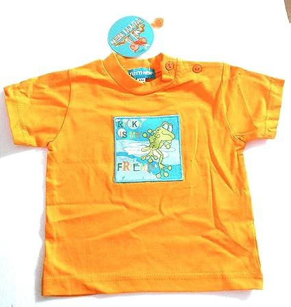 Bambino Mesi Abbigliamento Maglietta Arancione Rana 6 mvN8n0w