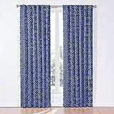 Waverly 12458050X084IND Lovely Lattice 50-Inch by 84-Inch Single Window Curtain Panel, Indigo