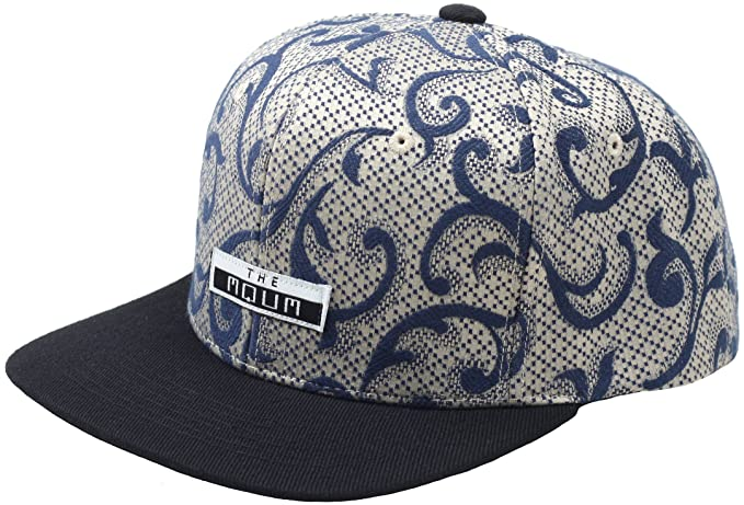 Raon H71 MQUM Paisley Tattoo Pattern Club Ball Cap Sexy Hiphop Bill  Snapback Flat Hat ( e4b490d6ed9