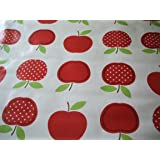 Dotty Red Apples PVC Wipe Clean Tablecloth by Karina Home 137cm x 200cm