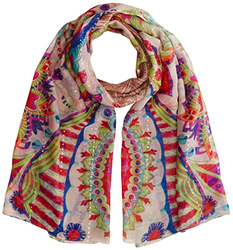 Desigual Foulard_vakiria Rectangle, Bufanda para Mujer