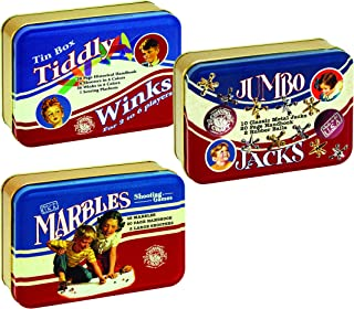 product image for Channel Craft Classic Toy Tin Series - Jumbo Jacks, Marbles, and Tiddly Winks