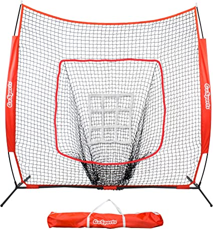 Ollieroo 7x7 Baseball /& Softball Practice Net for Hitting Pitching Includes for sale online