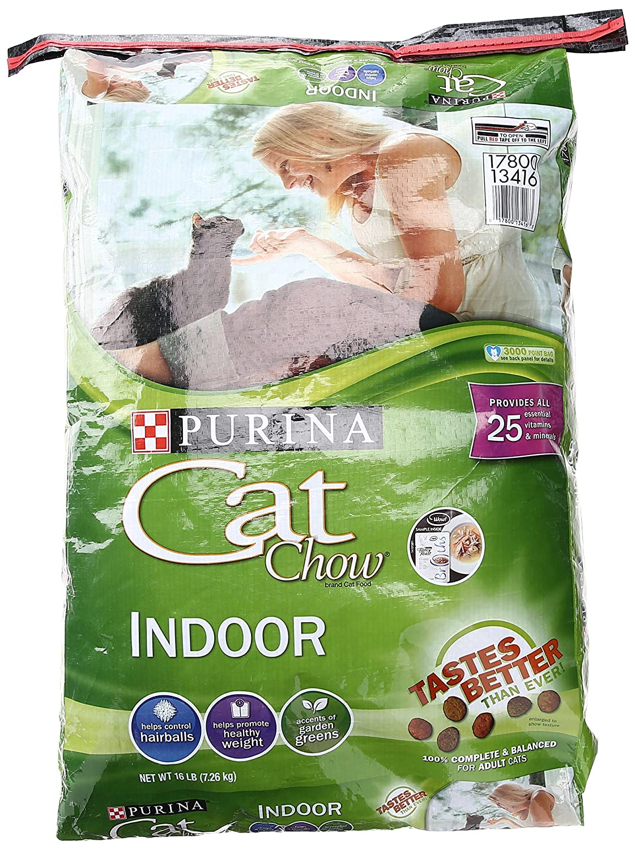 Purina Cat Chow Dry Cat Food, Indoor, 16 Lb