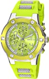 Invicta Women's 'BLU' Quartz Stainless Steel and Silicone Casual Watch, Color:Green (Model: 24196)