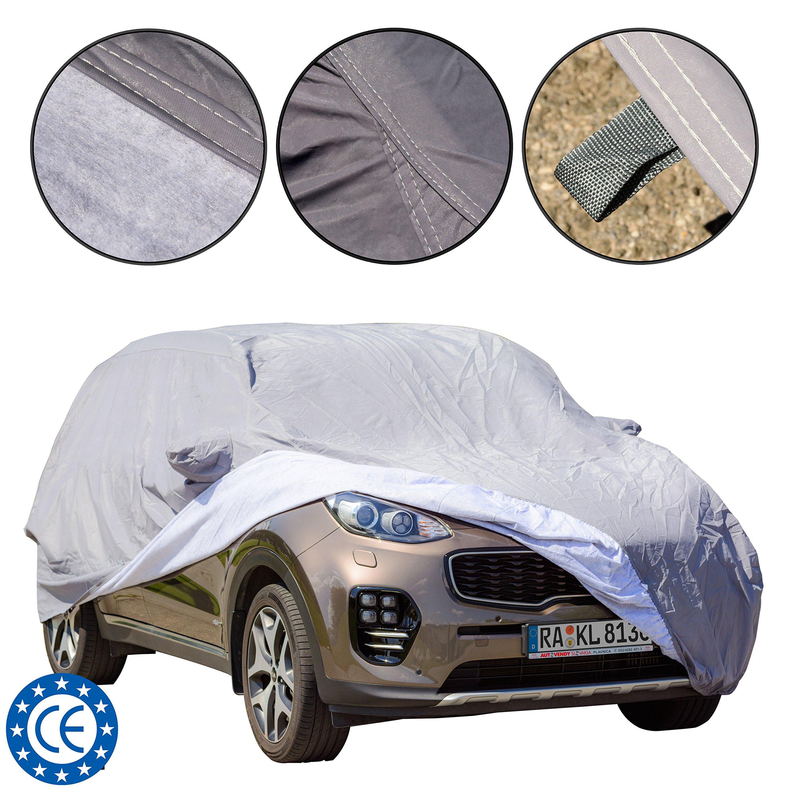Cubierta para coche para SUV, ajuste universal, impermeable, a prueba de polvo y