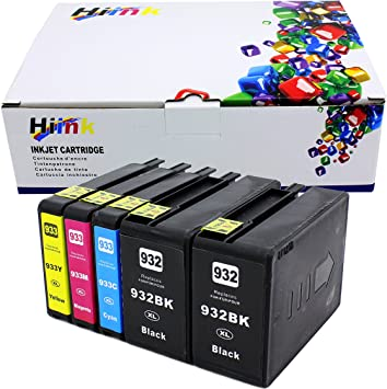 HP 932XL 933XL Ink for HP OfficeJet 6600 6700 7610 Black Cyan Magenta Yellow