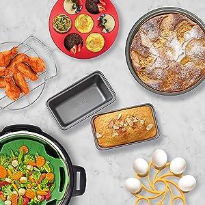 Instant Pot Official Fits 6QT/8QT Electric Pressure Cooker and Duo Crisp Air Fryer Lid Combo, 8-Piece, Assorted