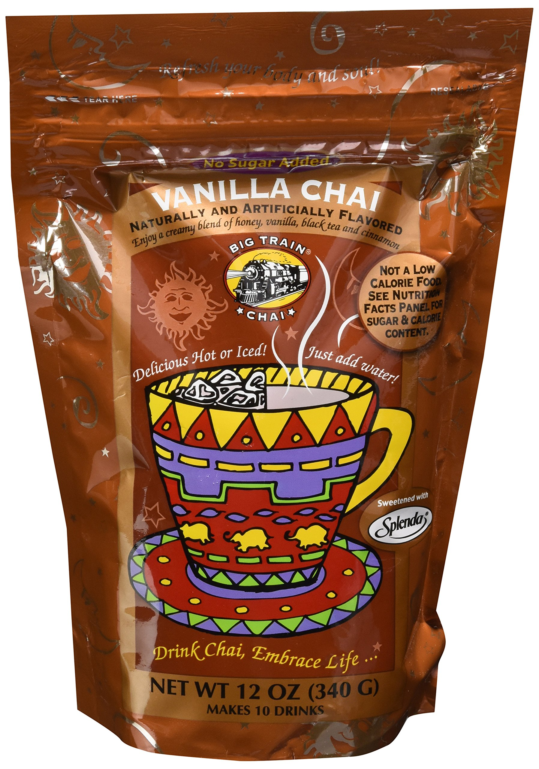 Big Train Chai - No Sugar Added Vanilla Chai (12oz. Resealable Bag) by Big Train