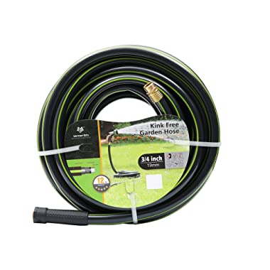 Worth Garden 3/4 x 75ft Water Hose - Durable Non Kinking Garden Hose - PVC Material Brass Hose Fittings - Flexible Hose Household Professional Use