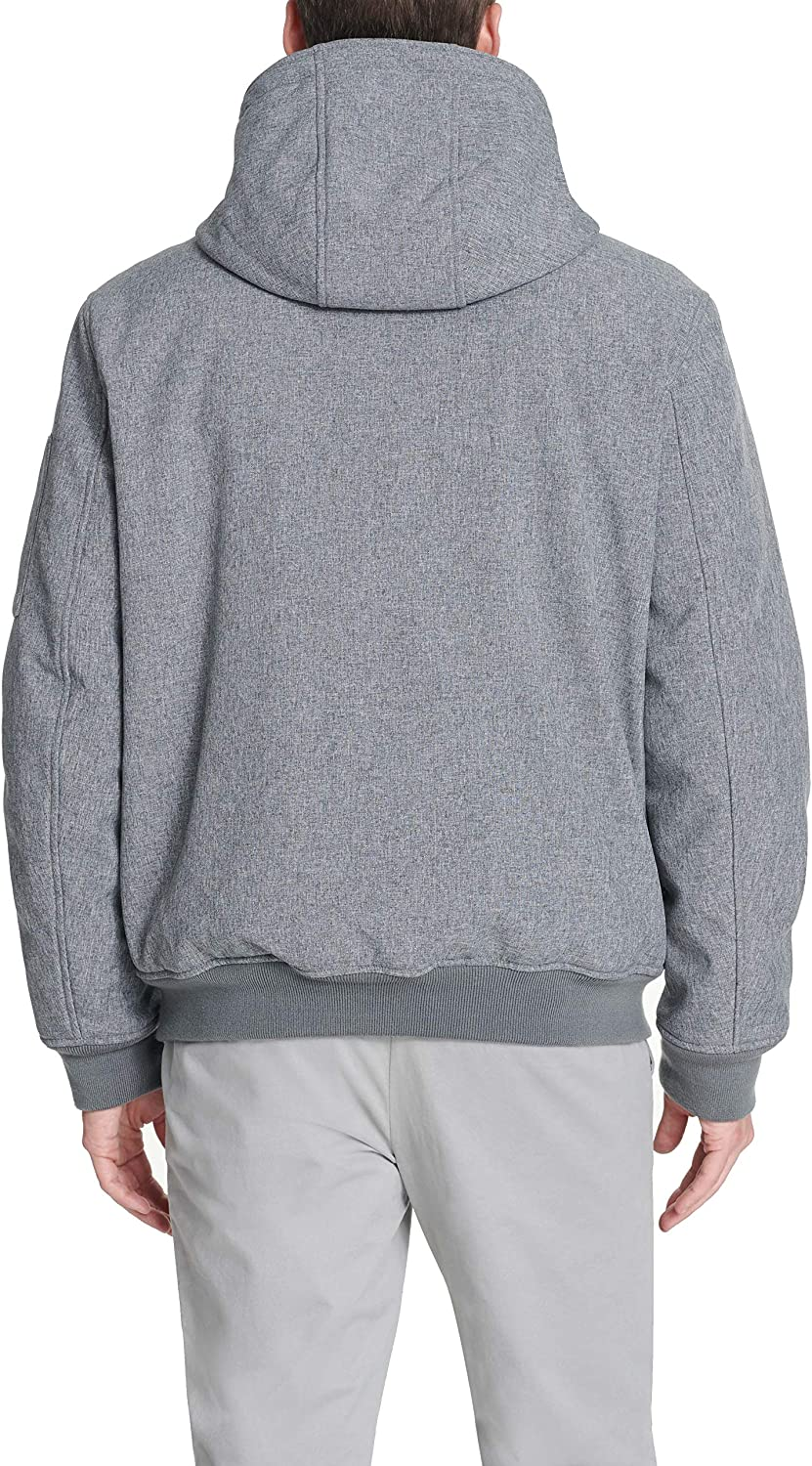 Tommy Hilfiger Mens Soft Shell Fashion Bomber with Contrast Bib and Hood