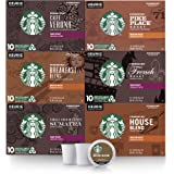 Starbucks Black Coffee K-Cup Coffee Pods — Variety Pack for Keurig Brewers — 6 boxes (60 pods total), Brown
