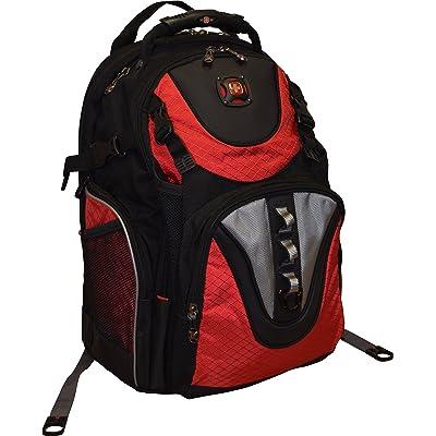 "SwissGear® Maxxum Double Zipper Backpack With 16"" Laptop Pocket, Black/Red"