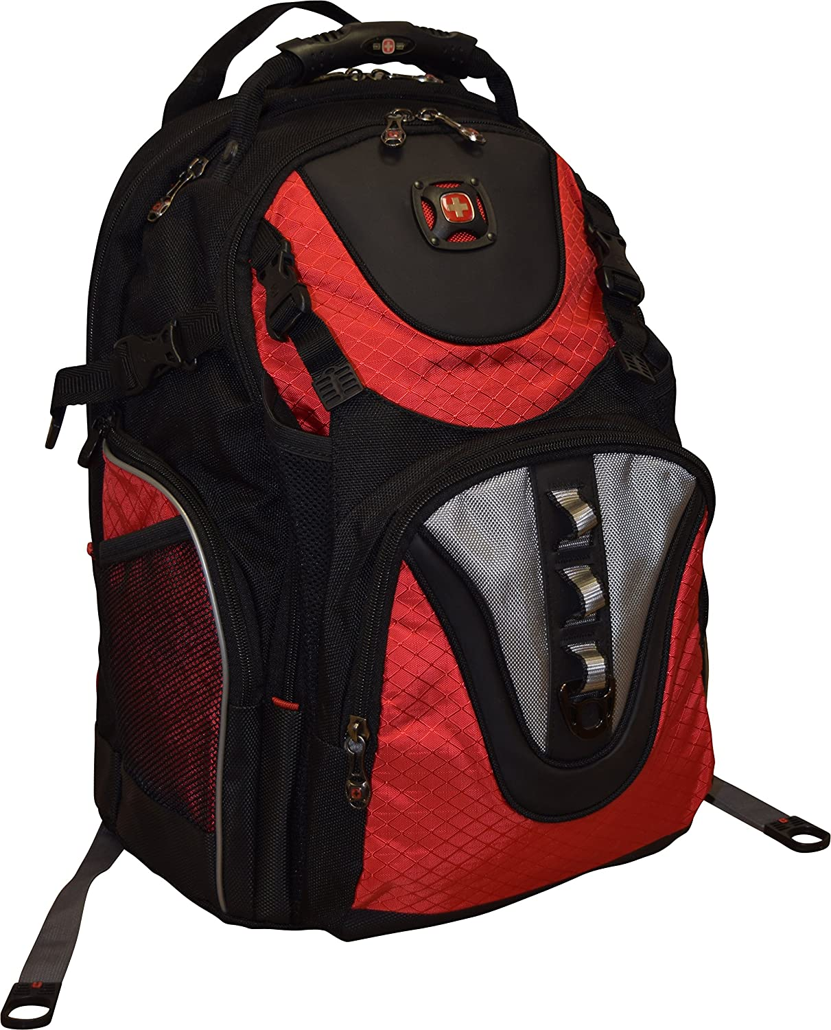 "SwissGear Maxxum Double Zipper Backpack With 16"" Laptop Pocket, Black/Red"