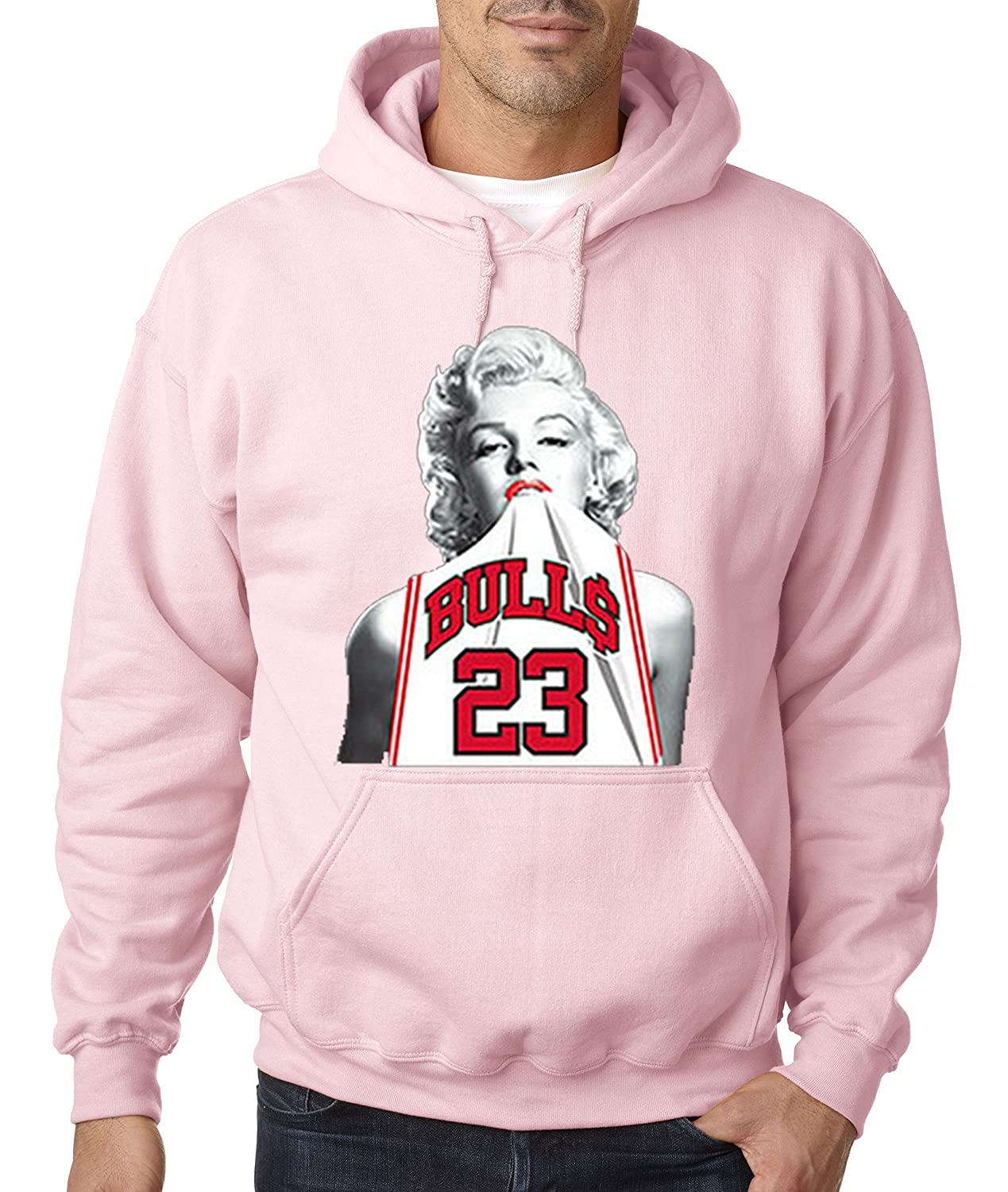 3bc2ef8312ad Amazon.com  New Way 193 - Hoodie Marilyn Monroe Bulls 23 Jordan Jersey  Unisex Pullover Sweatshirt  Clothing