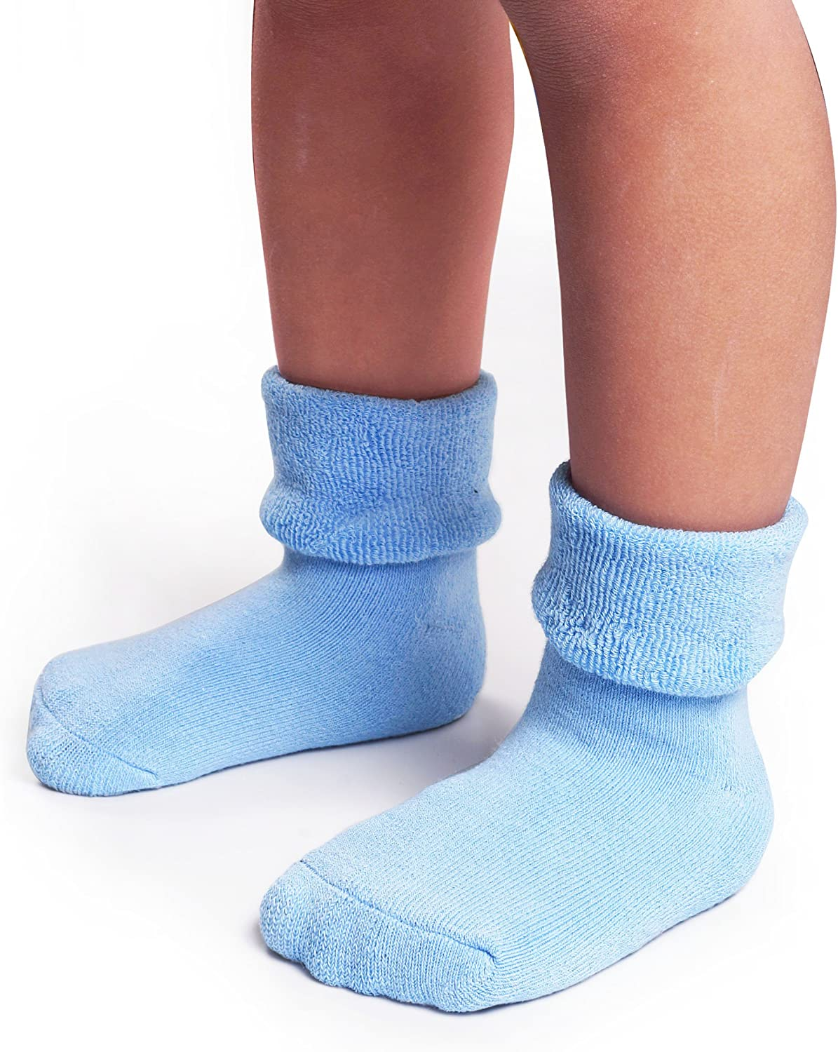 Infant Toddler Winter Cute Cotton Socks 3-36 Months Gifts Set 6 Pairs Pack Baby Boys Girls Thick Warm Anti Slip Terry Socks
