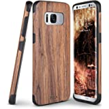 Galaxy S8 Case, BELK [Slim to Beat] Soft Wood Air Cushion Premium Rubber Bumper [Thin Light] Flexible TPU Back Cover, Shock Resistant Wooden Armor for Samsung Galaxy S8 - 5.8 inch, Cherry
