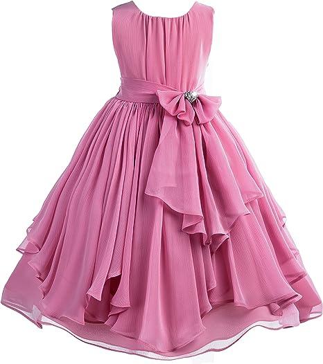 ekidsbridal Scalloped Lace Back Junior Flower Girl Dress Christening Easter Holiday 207R