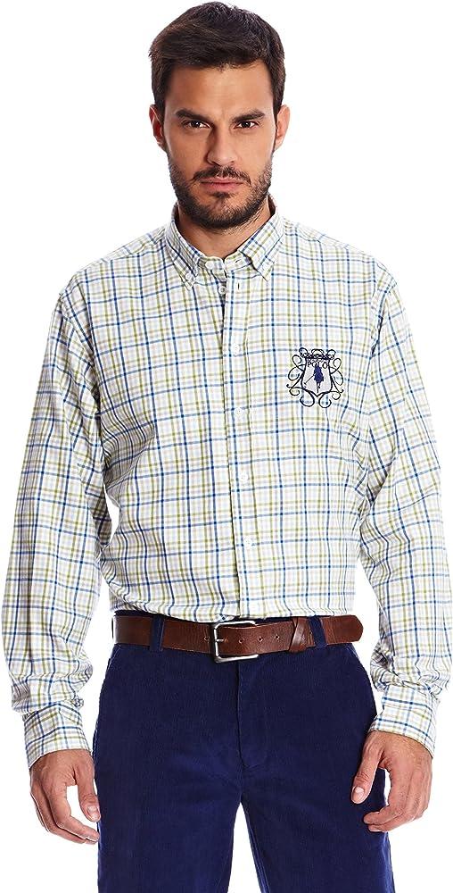 Spagnolo Camisa Hombre Verde S: Amazon.es: Ropa y accesorios