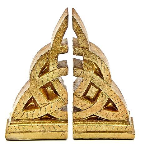 Home Bellaa Bookends Decorative Mystical Celtic Knot Design