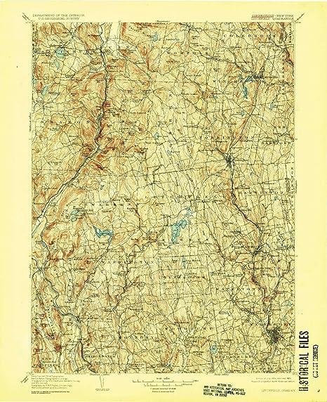 Topographic Map Ct.Amazon Com Yellowmaps Litchfield Ct Topo Map 1 125000 Scale 30 X
