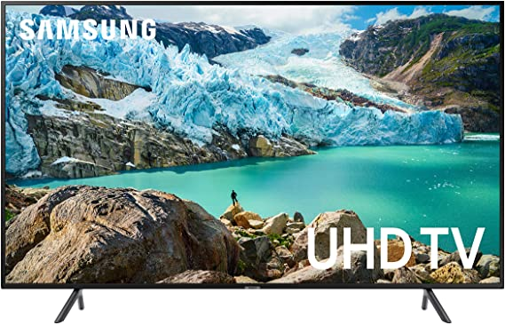 Samsung UN75RU7100FXZA Flat 75-Inch 4K UHD 7 Series Ultra HD Smart TV with HDR and Alexa Compatibility (2019 Model)