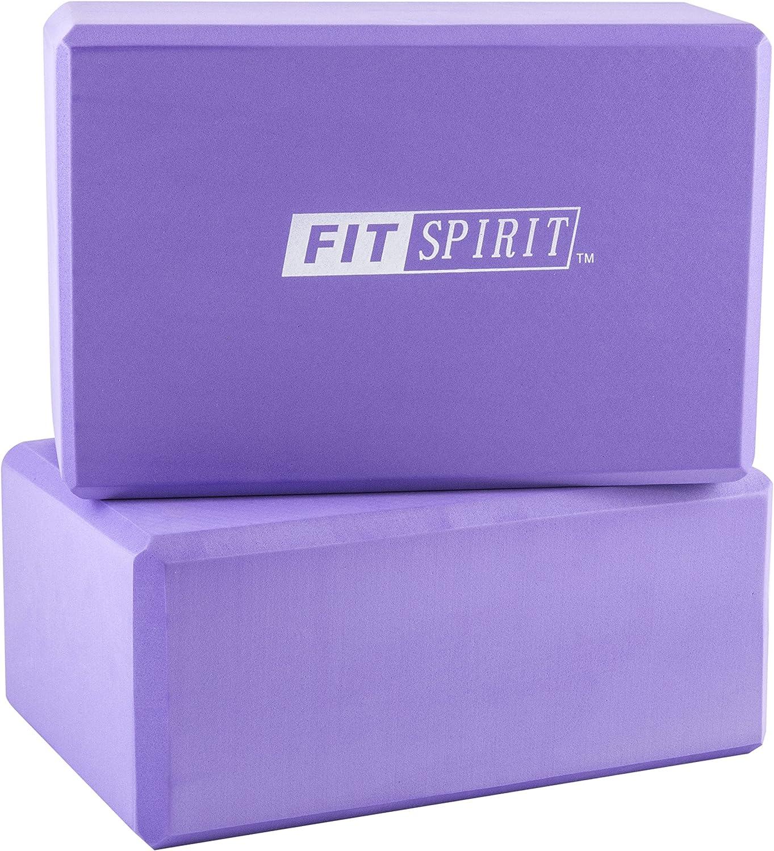 Amazon.com: Fit Spirit juego de 2 bloques de yoga - Elija su ...
