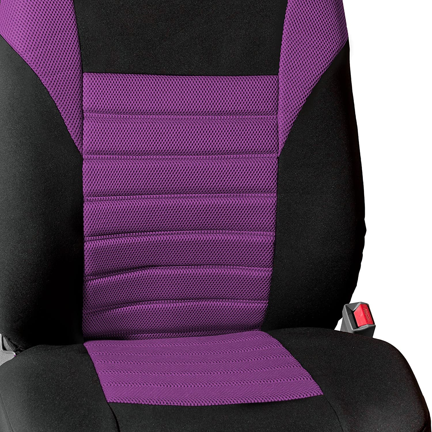 Premium 3D Air mesh Design Airbag and Rear Split Bench Compatible Red FH Group FB068RED115 Universal Car Seat Cover