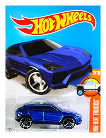 hot wheels 2016 hw hot trucks lamborghini urus blue 142250 - Lamborghini Urus Blue