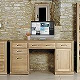 baumhaus mobel oak twin pedestal computer desk camberley oak 2 door
