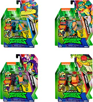 Rise of the Teenage Mutant Ninja Turtle Battle Shell Action Figure Four Pack