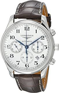 longines master complications mens chronograph moonphase stainless longines the master collection chronograph 42mm l2 759 4 78 3