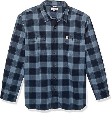 Carhartt Big & Tall Hubbard Flannel Long Sleeve Shirt Camisa para Hombre: Amazon.es: Ropa y accesorios