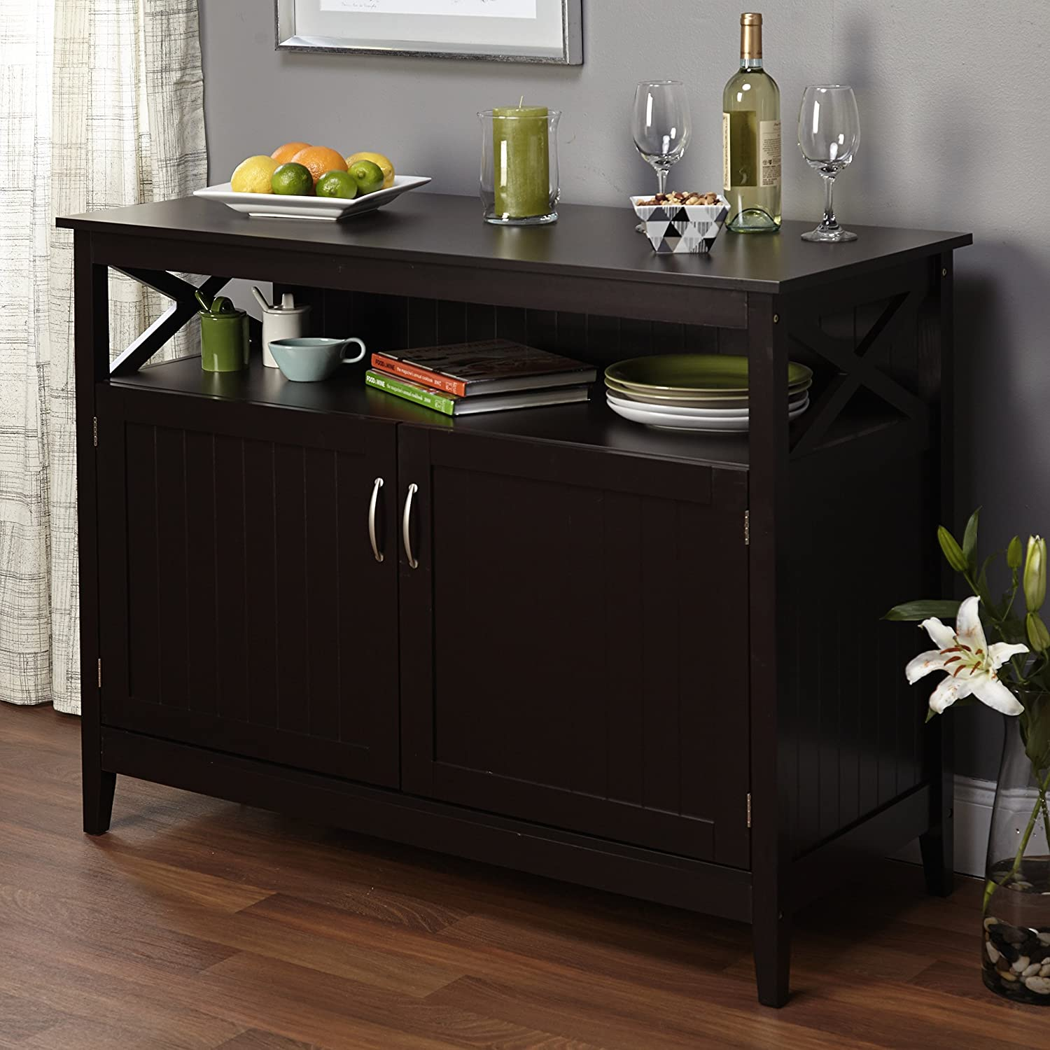 Amazon.com   Simple Living Southport Espresso Dining Wood Contemporary  Buffet By Simple Living   Buffets U0026 Sideboards