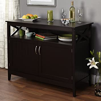 Simple Living Southport Espresso Dining Wood Contemporary Buffet By