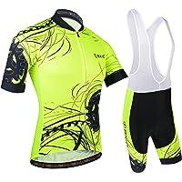 BXIO Hombres Jersey de Ciclo Bike Wear Yellow