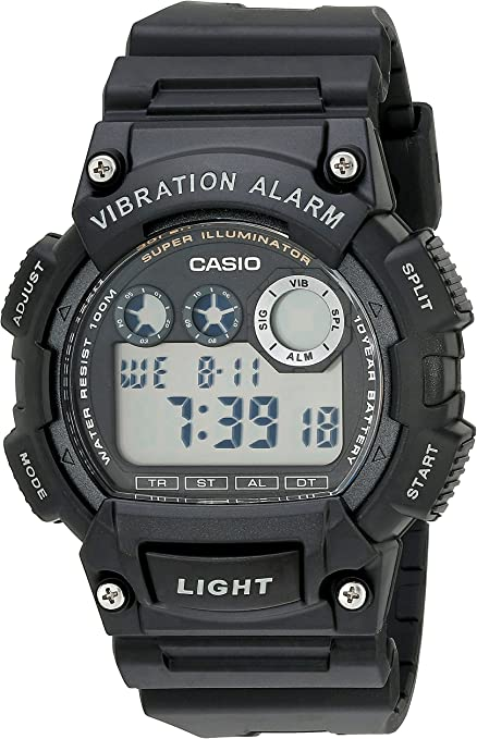 Casio Men's W735H-1AVCF Watch with Vibrating Alarm