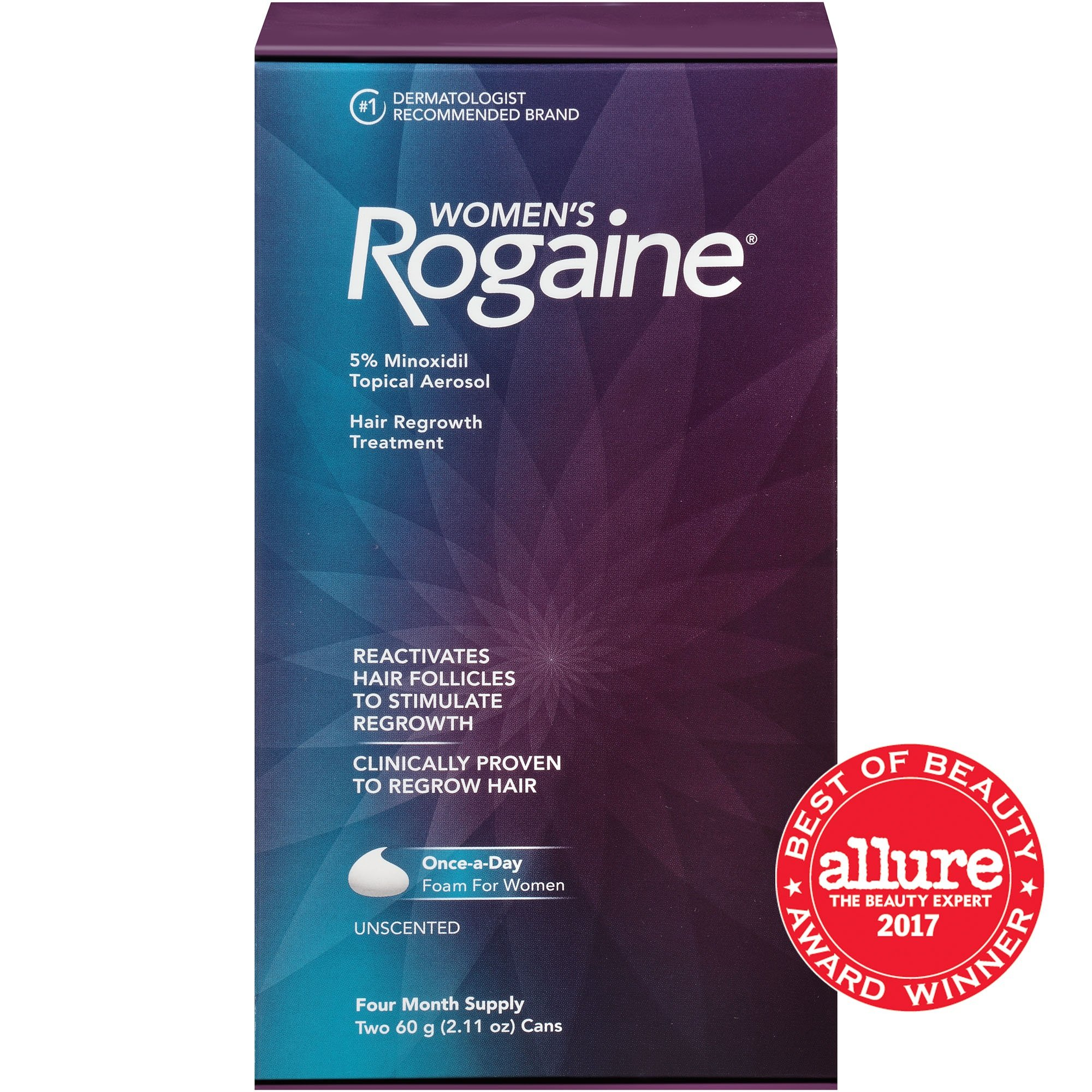 Women's Rogaine 5% Minoxidil Foam for Hair Thinning and Loss, Topical Treatment for Women's Hair Regrowth, 4-Month Supply by Rogaine (Image #2)