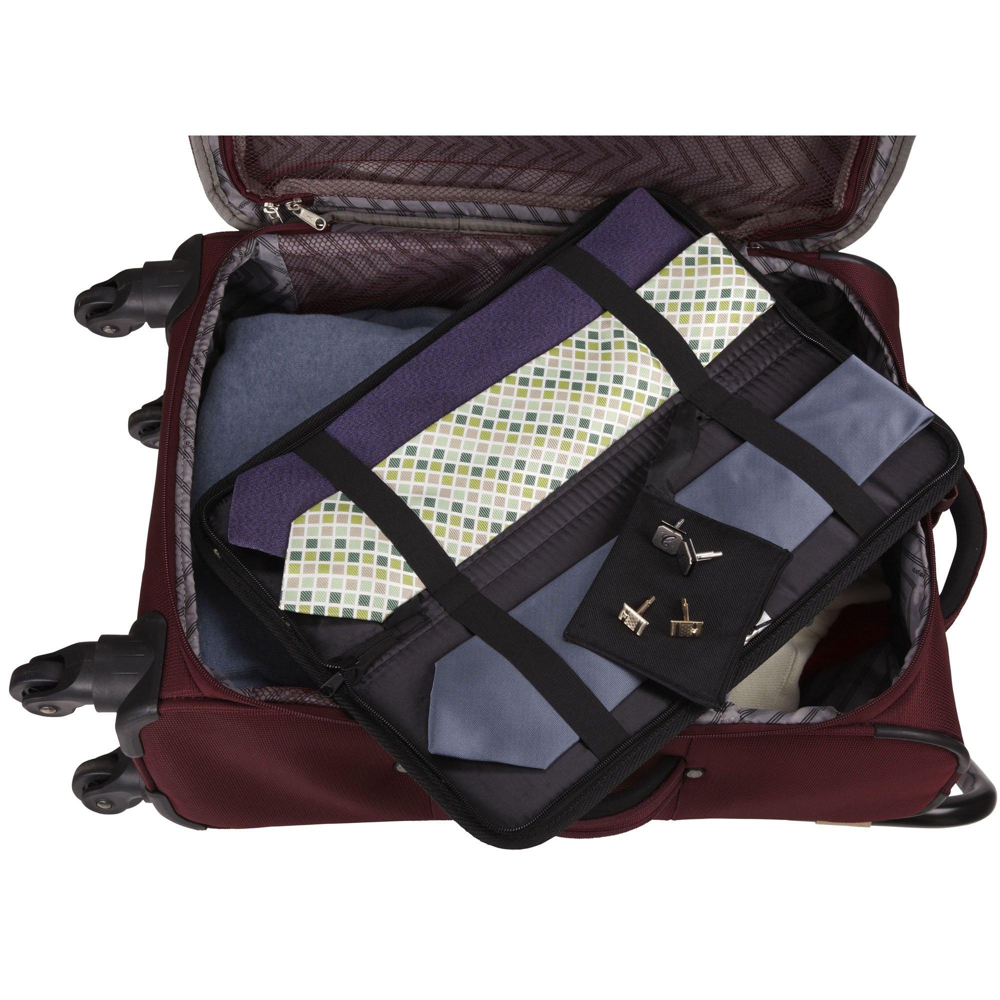 Household Essentials 06704 Travel Tie Storage Case   Tie Holder Stores up to 6 Ties   Black