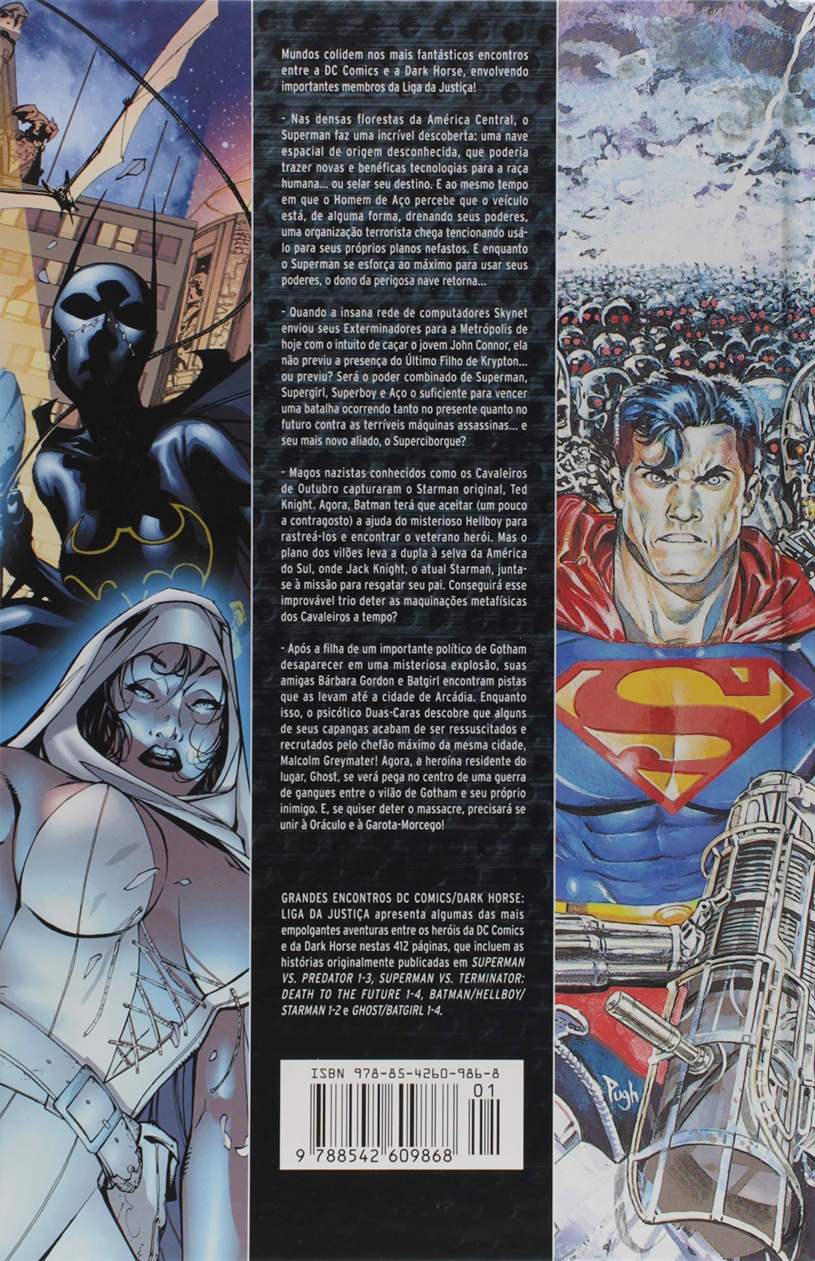 129da9b11c8 Grandes Encontros. DC Comics. Dark Horse . Liga da Justiça - Volume 1 -  9788542609868 - Livros na Amazon Brasil