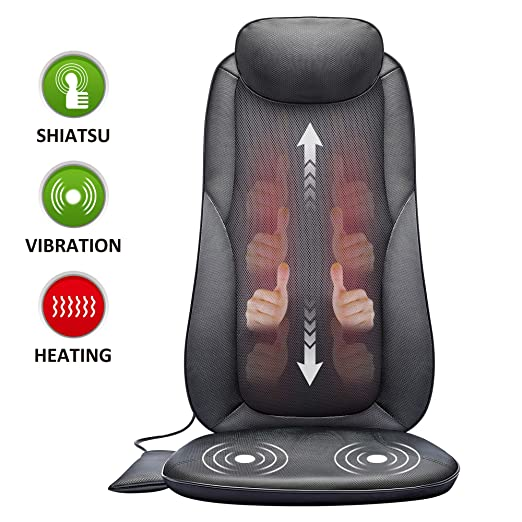 SNAILAX Shiatsu Back Massager with Heat