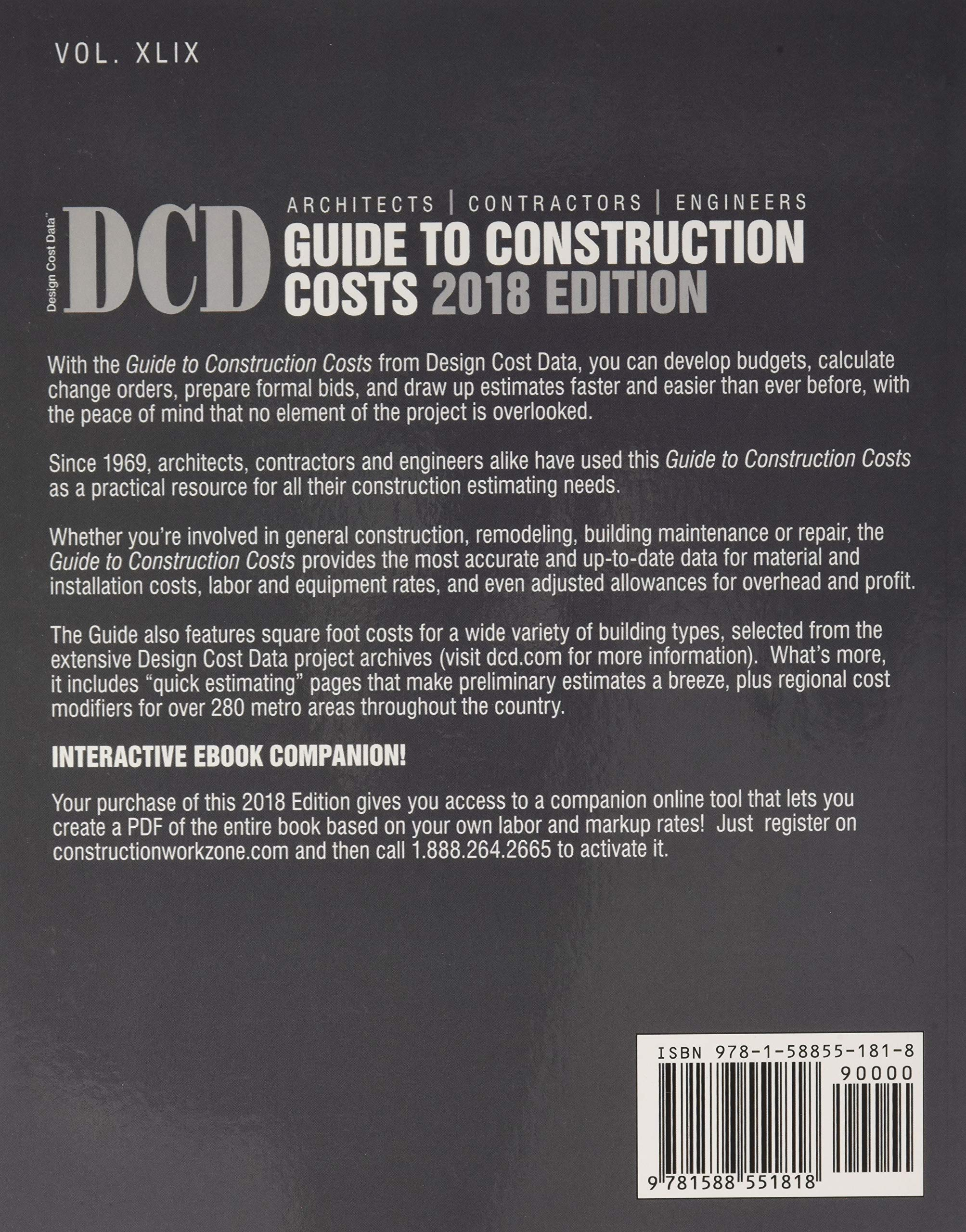 2018 dcd guide to construction costs bni building news rh amazon com guide to construction costs 2017 guide to construction costs pdf