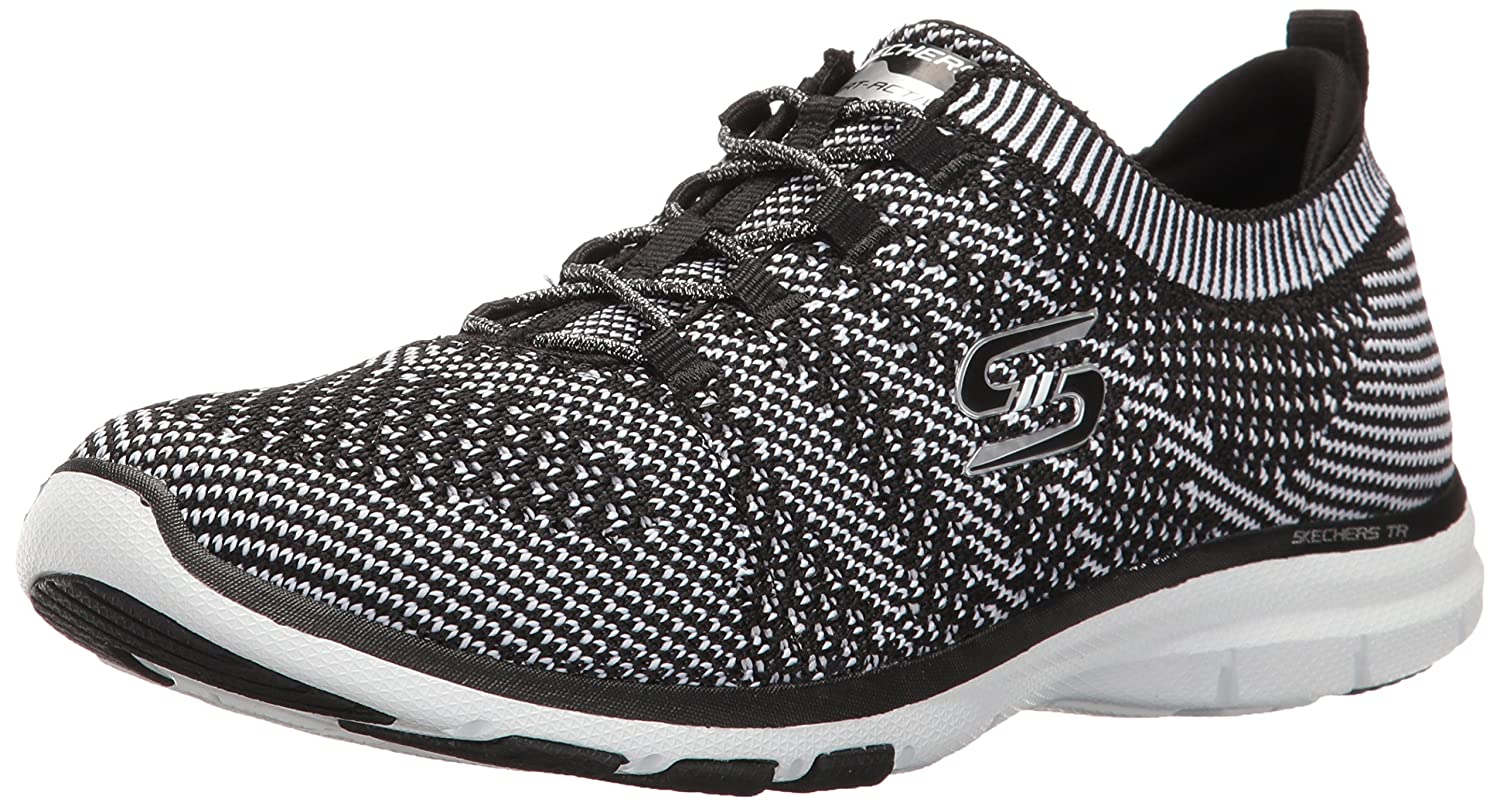 Skechers Sport Women's Galaxies Fashion Sneaker B01J2S06Z4 9.5 B(M) US|Black/White