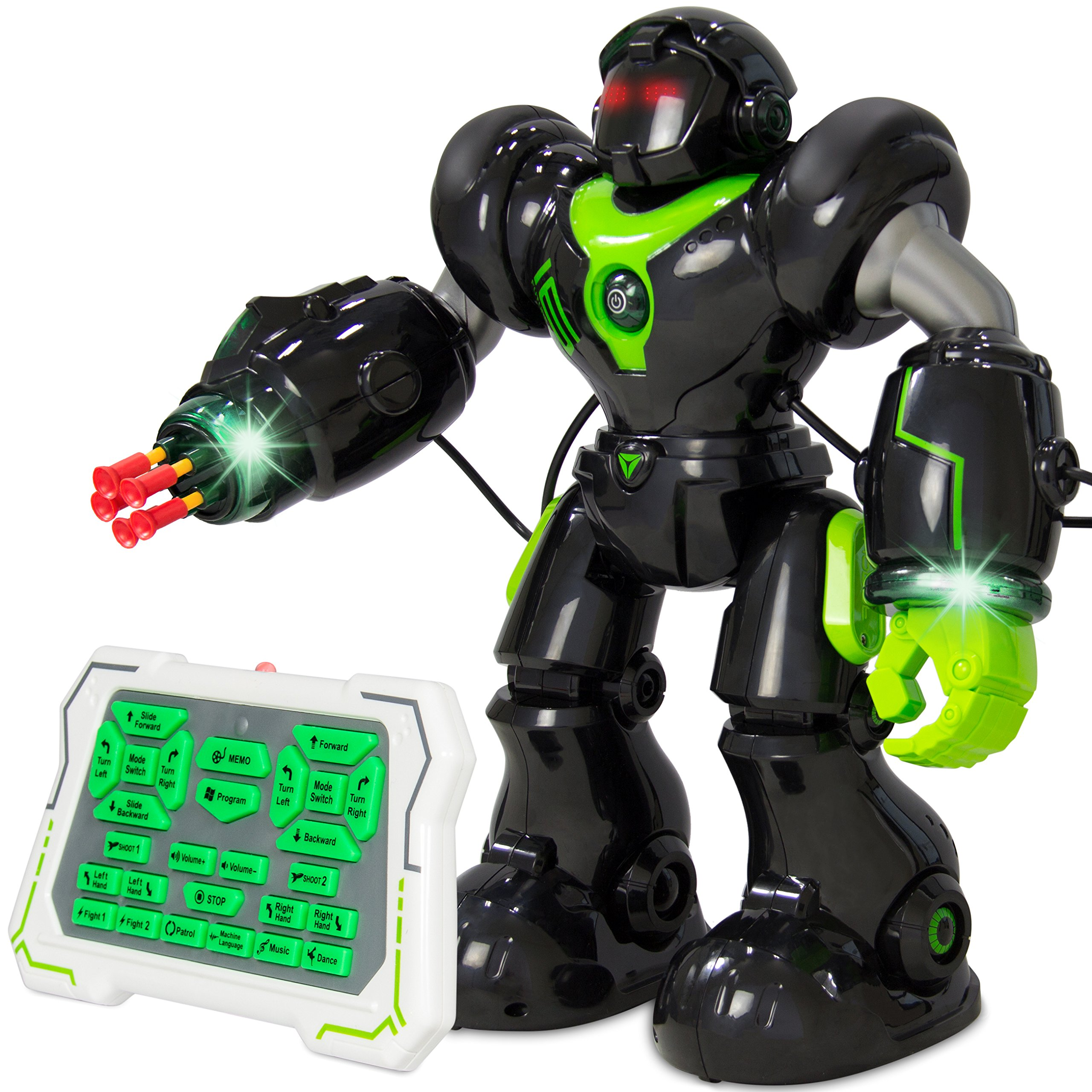 Best Choice Products Intelligent Remote Control RC Robot Talking Walking Shooting Light & Music Action Toys